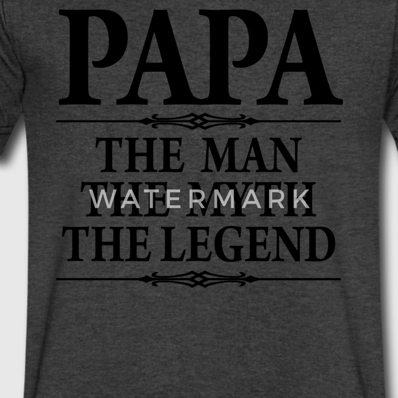 Papa The Man The Myth he Legend - Men's V-Neck T-Shirt by Canvas