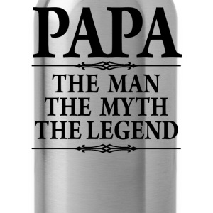 Papa The Man The Myth he Legend - Water Bottle