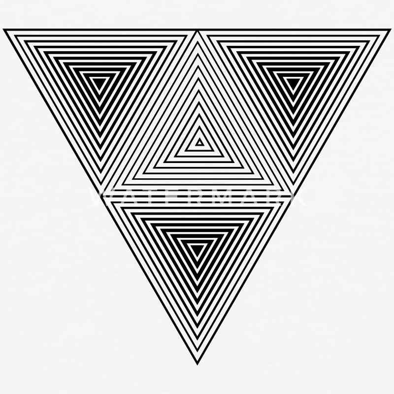 Optical illusion (Hipster triangle) Black & White  T-Shirts - Baseball T-Shirt