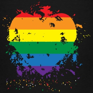 Gay Pride Rainbow Paint Splatter Heart - Toddler Premium T-Shirt