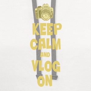 Keep Calm and Vlog On - Contrast Hoodie