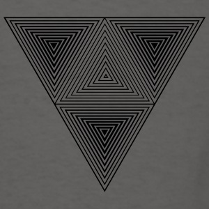 Optical illusion (Hipster triangle) Black & White  Bags & backpacks - Men's T-Shirt