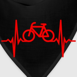 heartbeat of a cyclist T-Shirts - Bandana