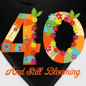 Blooming 40th Birthday T-Shirts - Bandana