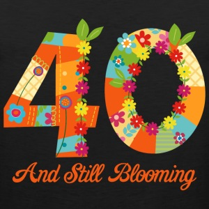 Blooming 40th Birthday T-Shirts - Men's Premium Tank