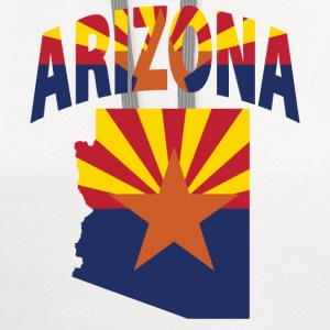 Arizona flag in Arizona map baseball tee - Contrast Hoodie
