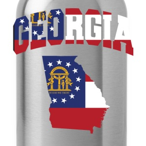 Georgia Flag In Georgia Map T-Shirt - Water Bottle