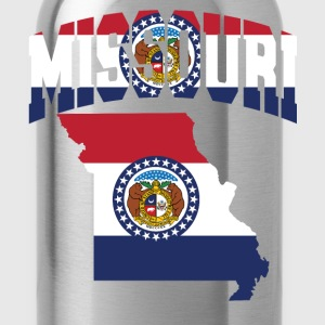 Missouri Flag in Missouri Map Baseball Tee - Water Bottle
