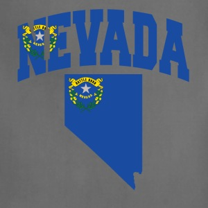 Nevada Flag in Nevada Map American Apparel Tee - Adjustable Apron