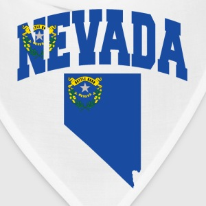 Nevada Flag in Nevada Map American Apparel Tee - Bandana