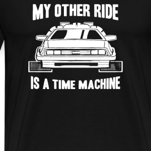 My Other Ride Is A Time Machine Hoodies - Men's Premium T-Shirt