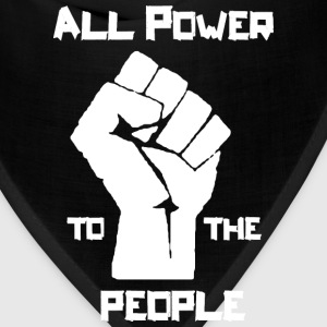 Power to the People wh T-Shirts - Bandana