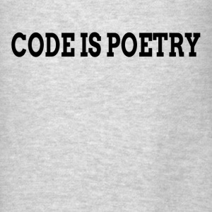 Code is Poetry Hoodies - Men's T-Shirt