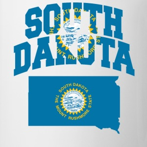 South Dakota Flag In South Dakota Map Ringer Tee - Coffee/Tea Mug