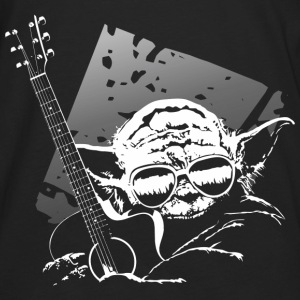 yoda_and_guitar Hoodies - Men's Premium Long Sleeve T-Shirt