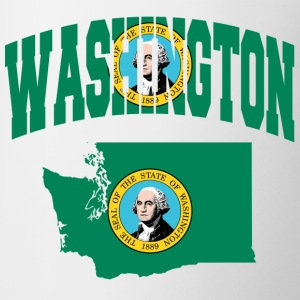 Washington flag Baseball Tee - Coffee/Tea Mug