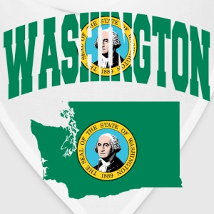 Washington flag Baseball Tee - Bandana