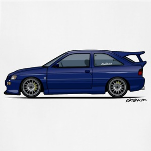 Escort Mark V RS Cosworth Pacifica Blue T-Shirts - Adjustable Apron