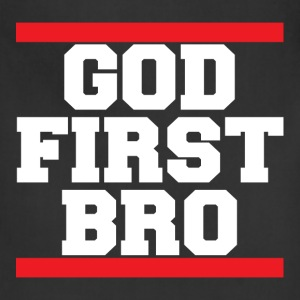 God First Bro Christian T-Shirt - Adjustable Apron