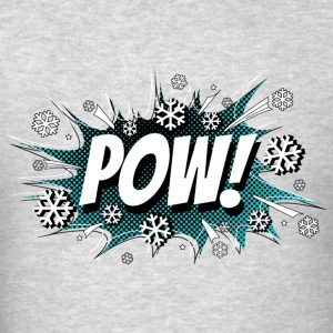POW! + Sleeve Snow Addict - Men's T-Shirt