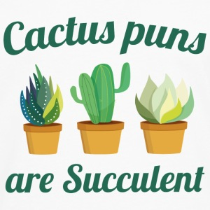 Cactus Puns Are Succulent - Men's Premium Long Sleeve T-Shirt