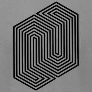 Optical Illusion (Impossible Minimal B & W Lines) Long Sleeve Shirts - Men's T-Shirt by American Apparel