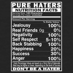 Pure Haters Facts Mugs & Drinkware - Men's Premium Long Sleeve T-Shirt