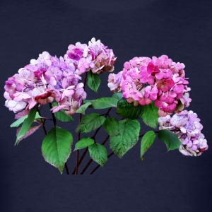 Lavender and Rose Hydrangea Long Sleeve Shirts - Men's T-Shirt