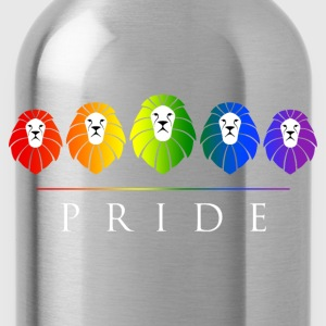 Gay Pride Lions - LGBT Rainbow T-Shirts - Water Bottle