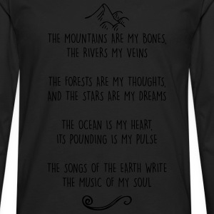 Mountains are my Bones Adventure Nature Lover Tee - Men's Premium Long Sleeve T-Shirt