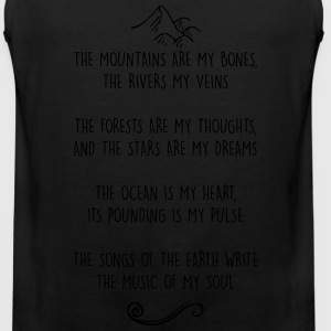 Mountains are my Bones Adventure Nature Lover Tee - Men's Premium Tank
