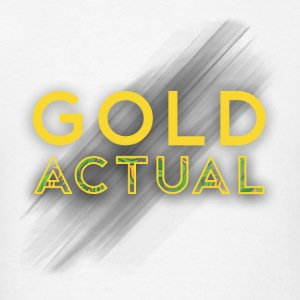 GoldActual logo W styles Hoodies - Men's T-Shirt