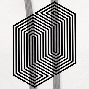 Optical Illusion (Impossible Minimal B & W Lines) Other - Contrast Hoodie