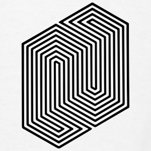 Optical Illusion (Impossible Minimal B & W Lines) Other - Men's T-Shirt