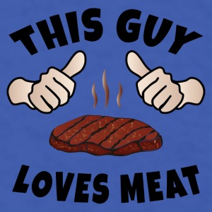 This Guy Loves Meat Mugs & Drinkware - Men's T-Shirt