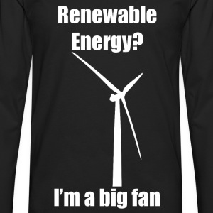 Renewable Energy T-Shirt (White) - Men's Premium Long Sleeve T-Shirt