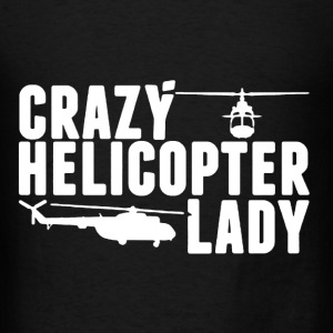 Crazy Helicopter Lady - Men's T-Shirt