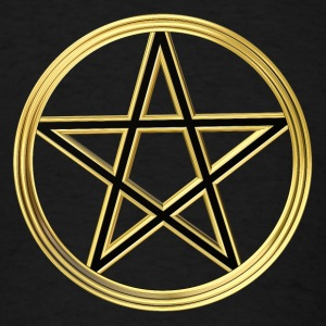 Golden pentagram Long Sleeve Shirts - Men's T-Shirt