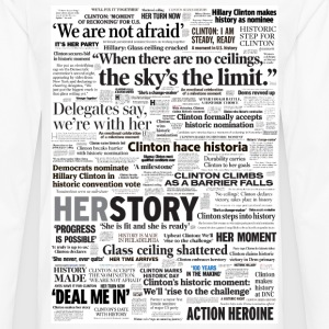 Hillary 2016 Historic Headlines Shirt - Men's Premium Long Sleeve T-Shirt