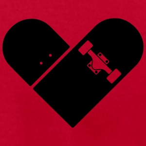 Minimal Skateboard - Heart Logo Design / Icon Polo Shirts - Men's T-Shirt by American Apparel