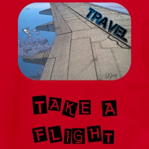 Travel - Take A Flight - Unisex Fleece Zip Hoodie by American Apparel