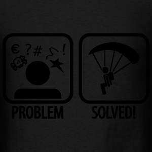 problem solved skydiving Bags & backpacks - Men's T-Shirt