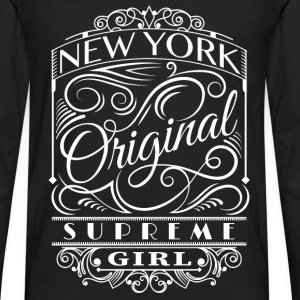 New York girl - Original NY supreme girl cool tee - Men's Premium Long Sleeve T-Shirt