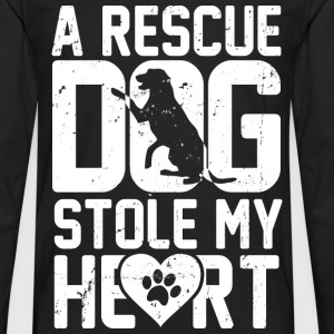 Rescue dog - It stole my heart awesome t-shirt - Men's Premium Long Sleeve T-Shirt
