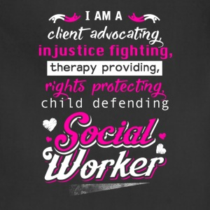 Social worker - I'm a therapy providing t-shirt - Adjustable Apron