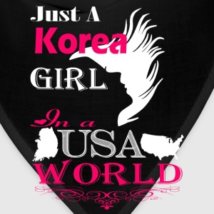 Korean girl - In a USA world awesome t-shirt - Bandana