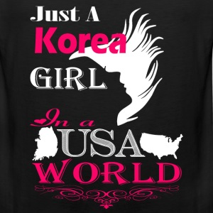 Korean girl - In a USA world awesome t-shirt - Men's Premium Tank