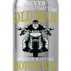 Motorcycle - Old man who is riding motorcycle tee - Water Bottle