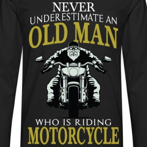 Motorcycle - Old man who is riding motorcycle tee - Men's Premium Long Sleeve T-Shirt