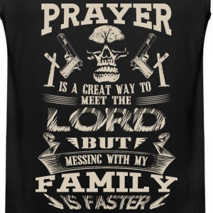 Family - Messing with my family to meet the lord - Men's Premium Tank
